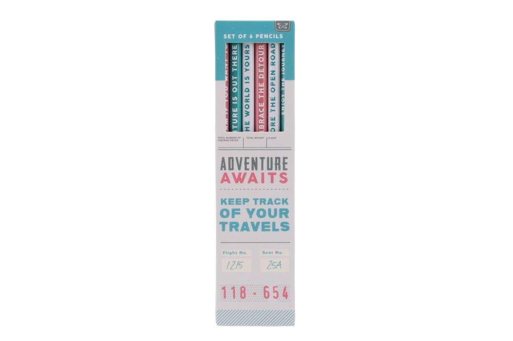 Travel Journal Pencil Set