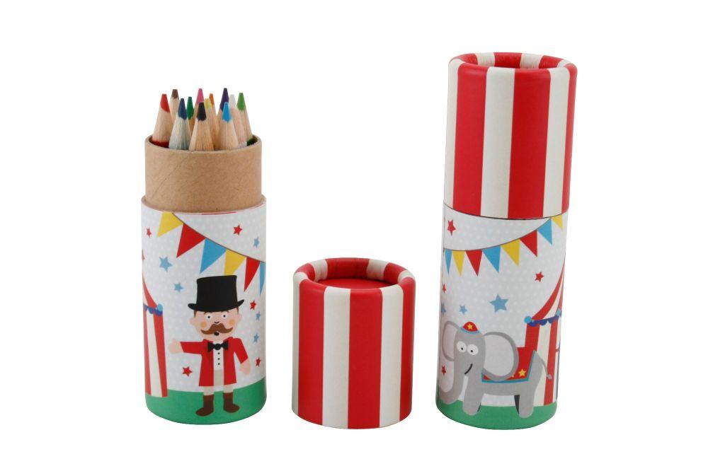 Children's Colouring Pencils in Pot - Circus