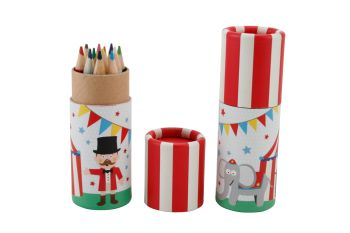 Children's Colouring Pencils in Pot - Circus