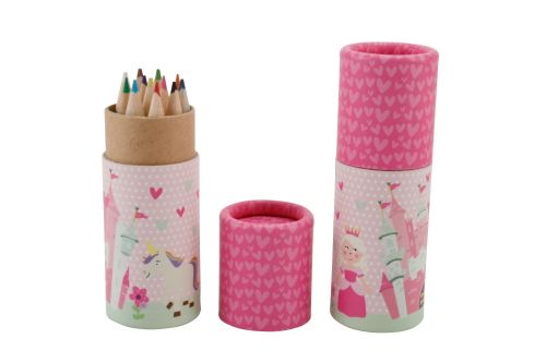 Children's Colouring Pencils in Pot - Princess