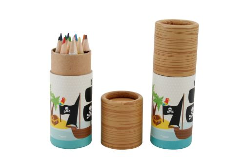 Children's Colouring Pencils in Pot - Pirate