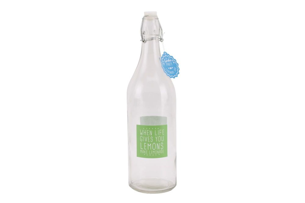 'When life gives you Lemons..' Glass Water Bottle