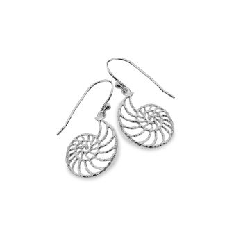 Sterling Silver Ammonite Earrings