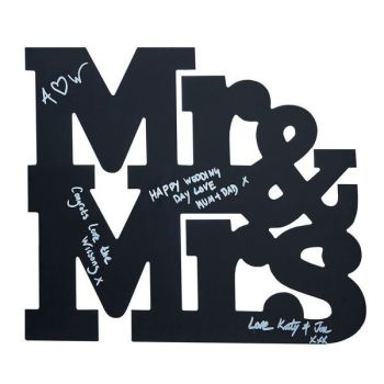 Ginger Ray Chalkboard Mr and Mrs Guestbook