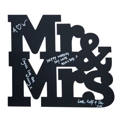 Chalkboard Mr and Mrs Guestbook