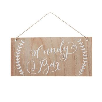 Ginger Ray Candy Bar Wooden Sign