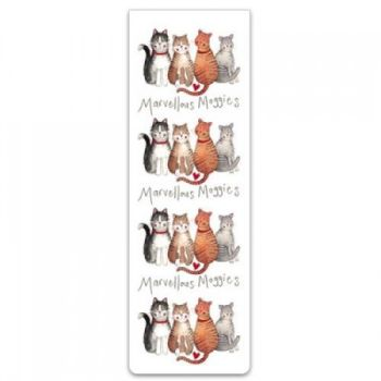 Alex Clarke Magnetic Bookmark - Marvellous Moggies
