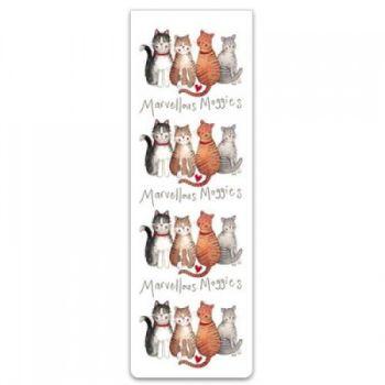 Alex Clarke Magnetic Bookmark - Marvellous Moggies