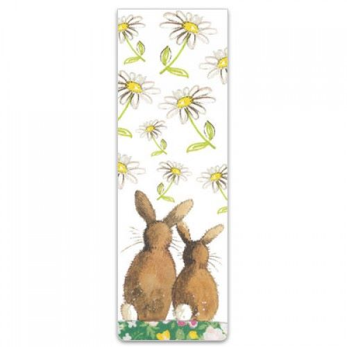 Alex Clarke Magnetic Bookmark - Rabbit With Daisies