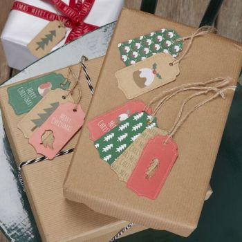 Christmas Pattern Gift Tags - Pack of 9