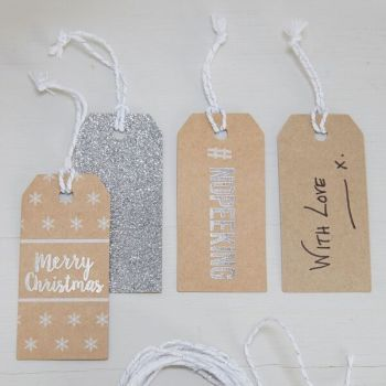 #NoPeeking Gift Tags - Pack of 9