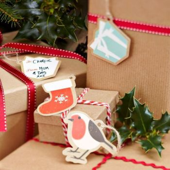 Vintage Inspired Christmas Assorted Tags - Pack of 12