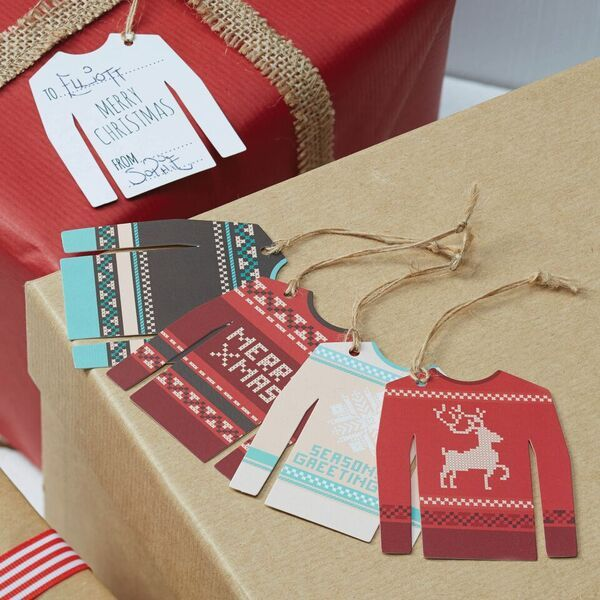 Christmas Jumper Tags - Pack of 12