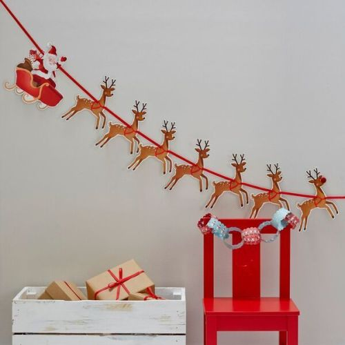 Father Christmas with Sleigh Bunting