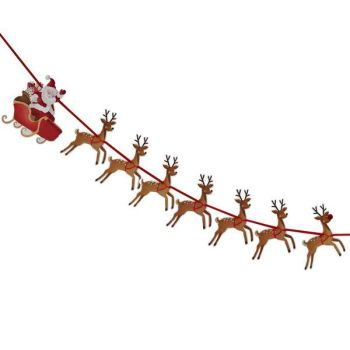 Ginger Ray Father Christmas with Sleigh Bunting