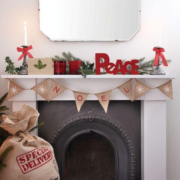 Hessian 'Noel' Bunting