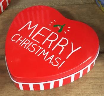 Happy Jackson Heart Merry Christmas Tin