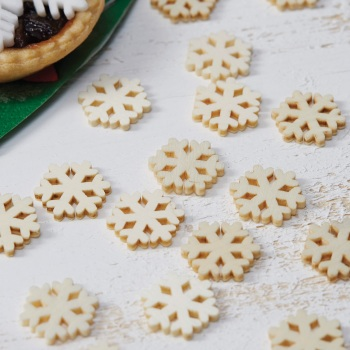 Wooden Snowflake Confetti - Pack of 24