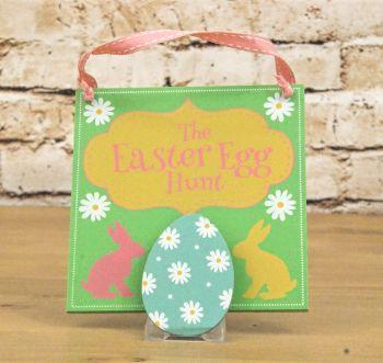The Easter Egg Hunt Map Clip Sign on Ribbon Hanger