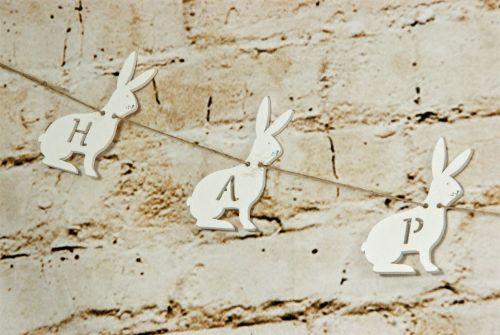 Gisela Graham Easter Bunny 'Happy Easter' Garland