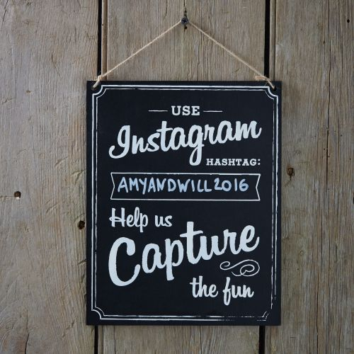 Ginger Ray Instagram Hashtag Hanging Wooden Chalkboard Sign