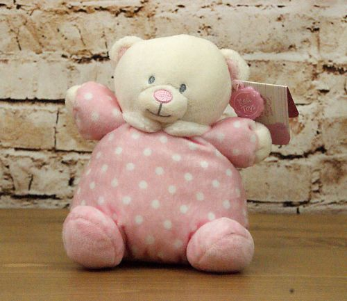 Baby Girl Pink Plush Bear with Rattle Head - Keel Toys