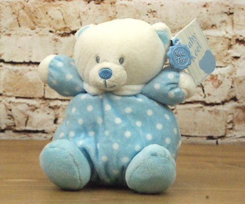 Baby Boy Blue Plush Bear with Rattle Head - Keel Toys