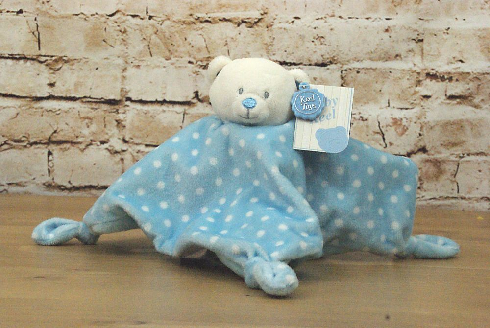 Baby Boy Blue Plush Bear Blanket  - Keel Toys