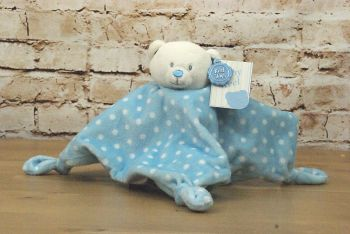 Baby Boy Blue Plush Bear Blanket  - Keel Toys