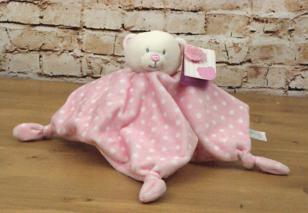Baby Girl Pink Plush Bear Blanket - Keel Toys