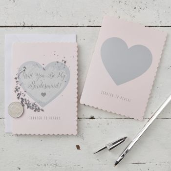 Ginger Ray Scratch and Reveal 'Will You Be My Bridesmaid?' Cards