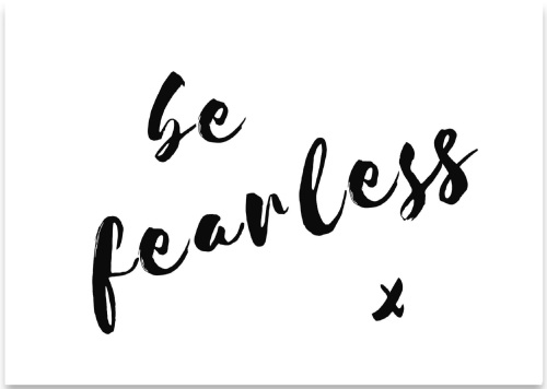 'Be Fearless' Mini Card