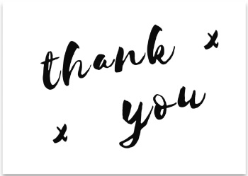 'Thank you' Mini Card