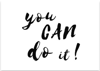 'You Can Do it!' Mini Card