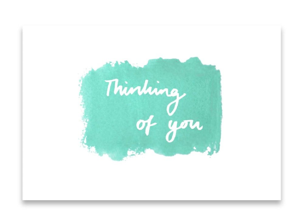 'Thinking of You' Watercolour Design Mini Card