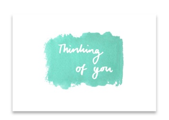 'Thinking of You' Watercolour Design Mini Card