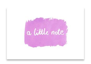 'A Little Note' Watercolour Design Mini Card