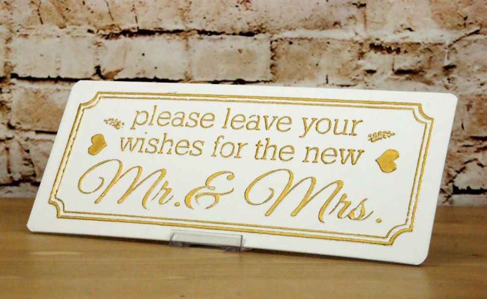 Metal Sign 'Wishes for the Mr and Mrs'