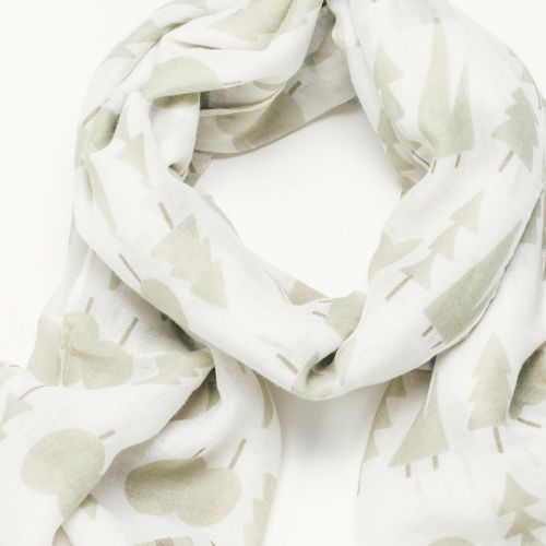 Evergreen Tree print Scarf