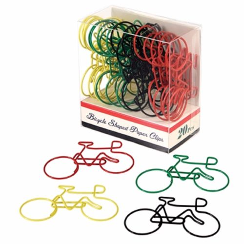 Bicycle Paper Clips - Box of 20