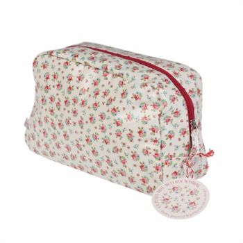 Ditsy Rose Print Oil Cloth Wash Bag