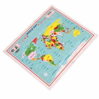 World Map Micro fibre Cleaning Cloth