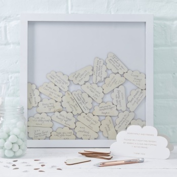 Baby Shower Cloud Frame Guest Book