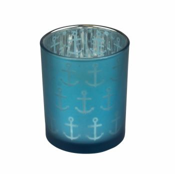 Anchor Design Glass Tealight Holder