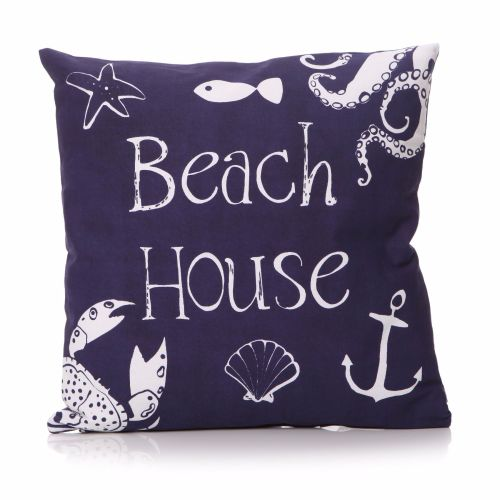 'Beach House' Motto Cushion