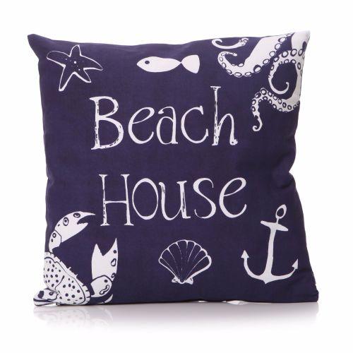 'Beach House' Motto Cushion
