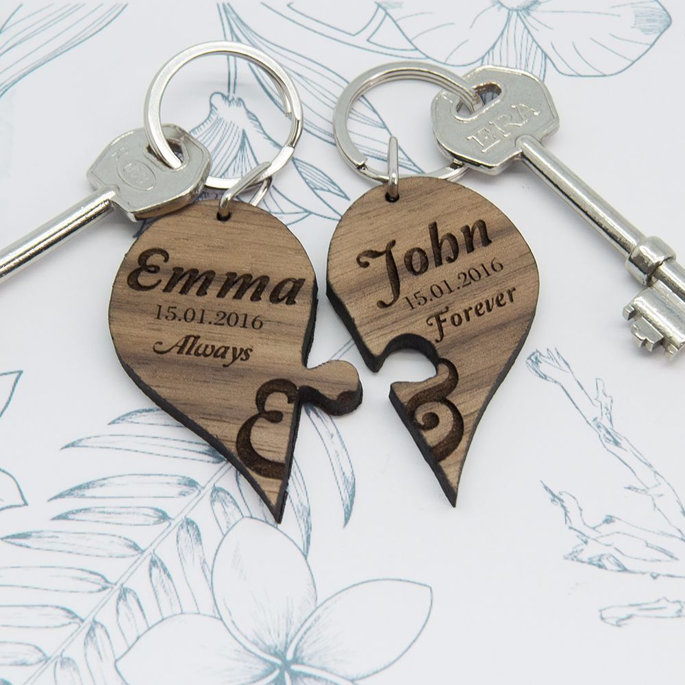 Always and Forever Couples Jigsaw Keyring