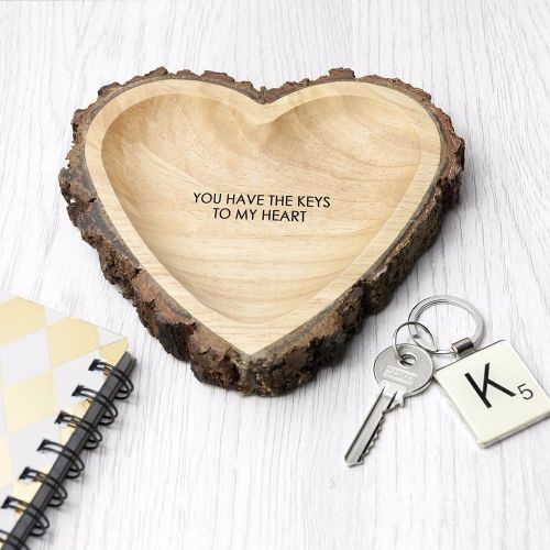 Rustic Carved Heart Dish