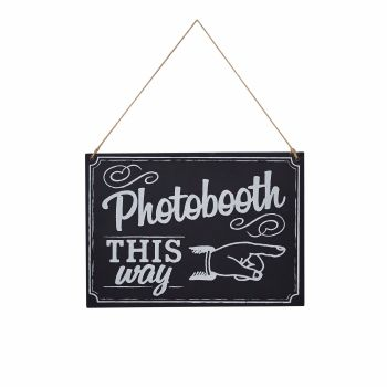 Ginger Ray Chalkboard Photo Booth Sign