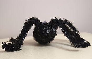 Gisela Graham Black Tinsel Spider Ornament